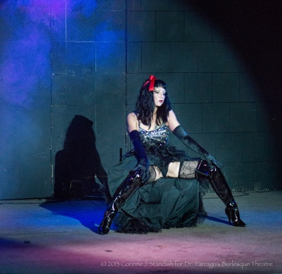 This photo was taken by photographer, Corrine Standish at Dr. Farrago's Burlesque Theater, October, 2013